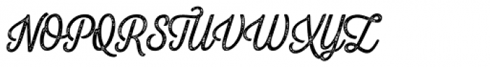 Letterpress Script Font UPPERCASE