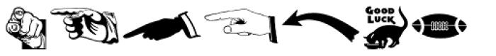 Letterpress Sorts JNL Font LOWERCASE