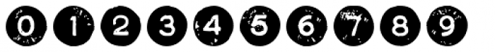 Letterpress Symbols Font OTHER CHARS