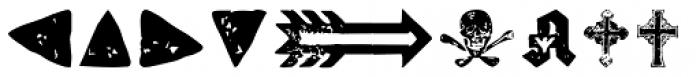 Letterpress Symbols Font UPPERCASE