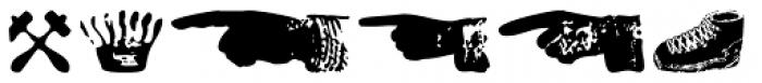 Letterpress Symbols Font LOWERCASE