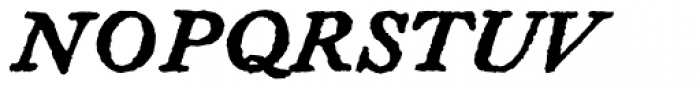 Letterpress Text Bold Italic Font UPPERCASE