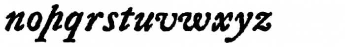 Letterpress Text Bold Italic Font LOWERCASE