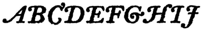 Letterpress Text Swash Caps Bold Font UPPERCASE