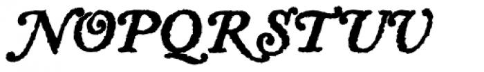 Letterpress Text Swash Caps Bold Font LOWERCASE