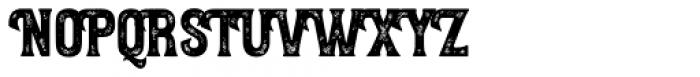 Letterpress Wood Font UPPERCASE