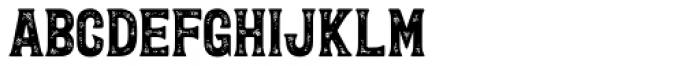 Letterpress Wood Font LOWERCASE
