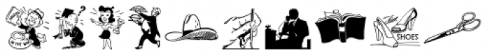 Letterpressers JNL Font LOWERCASE