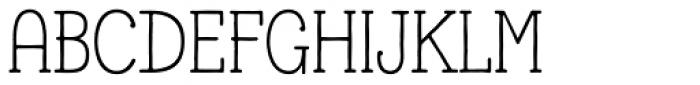 Lettre Font UPPERCASE