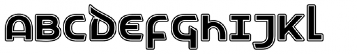 Letunical Inline Font UPPERCASE