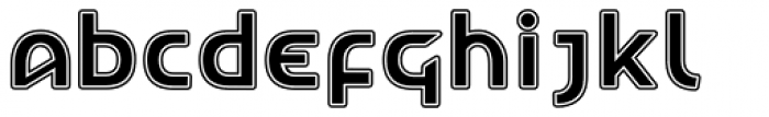Letunical Inline Font LOWERCASE