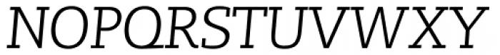 Lev Serif Light Italic Font UPPERCASE