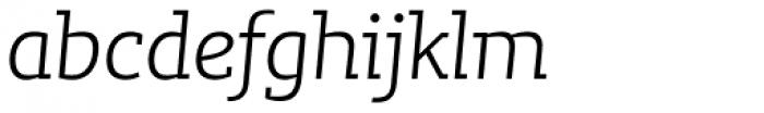 Lev Serif Light Italic Font LOWERCASE