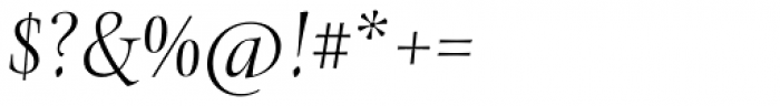Levato Std Light Italic Font OTHER CHARS