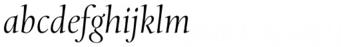 Levato Std Light Italic Font LOWERCASE