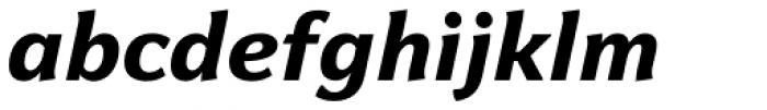 Levnam Extra Bold Italic Font LOWERCASE