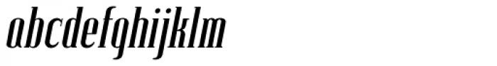 Lexave Italic Font LOWERCASE