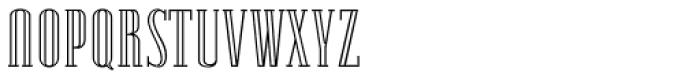 Lexave Outline Font UPPERCASE