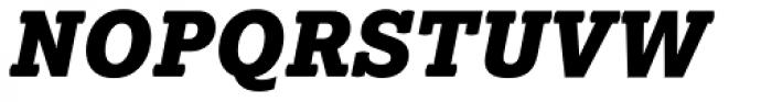 Lexia Black Italic Font UPPERCASE