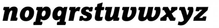 Lexia Black Italic Font LOWERCASE