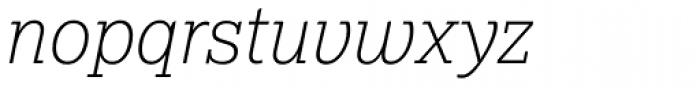 Lexia Thin Italic Font LOWERCASE
