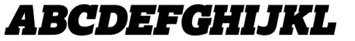 Lexia Typographic Advertising Italic Font UPPERCASE