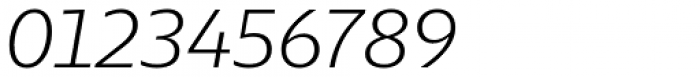 Lexis Light Italic Font OTHER CHARS