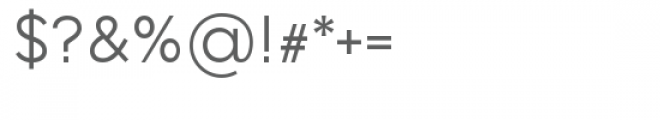 Lenis Regular Font OTHER CHARS