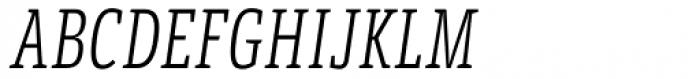 LFT Etica Sheriff Compressed Light Italic Font UPPERCASE