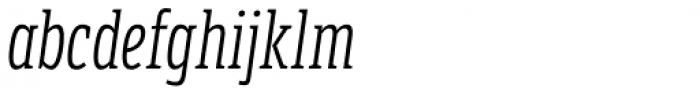 LFT Etica Sheriff Compressed Light Italic Font LOWERCASE