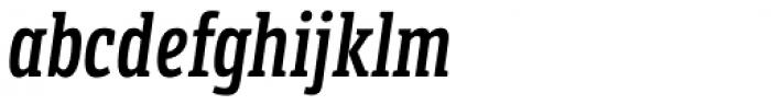 LFT Etica Sheriff Compressed SemiBold Italic Font LOWERCASE