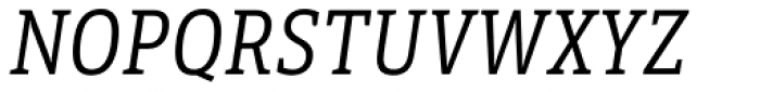 LFT Etica Sheriff Condensed Book Italic Font UPPERCASE