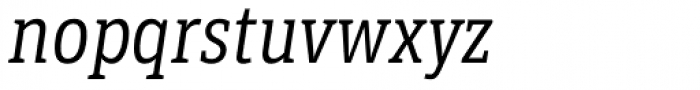 LFT Etica Sheriff Condensed Book Italic Font LOWERCASE