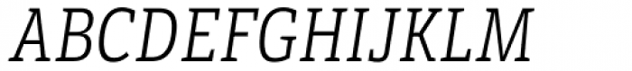 LFT Etica Sheriff Condensed Light Italic Font UPPERCASE