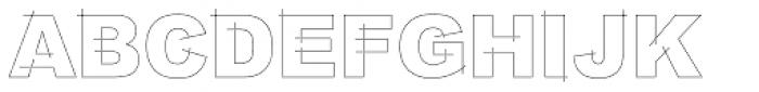 LGF Besitos Square Font UPPERCASE
