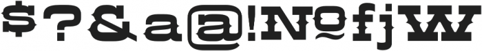 LHF Aledo Shadow 1 Regular otf (400) Font OTHER CHARS