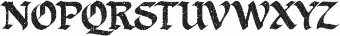 LHF Ascribe Distressed Regular otf (400) Font UPPERCASE