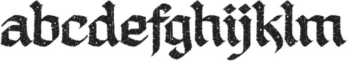 LHF Ascribe Distressed Regular otf (400) Font LOWERCASE