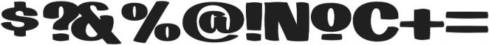 LHF Big Bob Bold Bold otf (700) Font OTHER CHARS