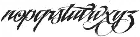 LHF BlackRose Script Inked Regular otf (900) Font LOWERCASE