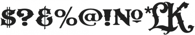 LHF Carnivale Regular Regular otf (400) Font OTHER CHARS