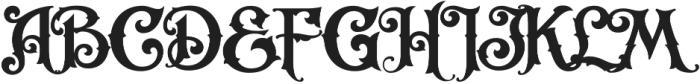 LHF Carnivale Regular Regular otf (400) Font UPPERCASE