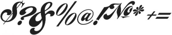LHF Chicago Script Regular otf (400) Font OTHER CHARS