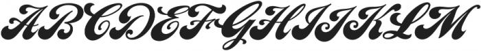 LHF Chicago Script Regular otf (400) Font UPPERCASE