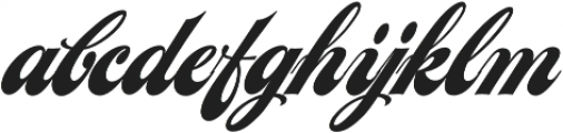 LHF Chicago Script Regular otf (400) Font LOWERCASE