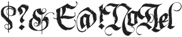 LHF Dark Horse 1 Regular otf (400) Font OTHER CHARS