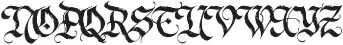 LHF Dark Horse 1 Regular otf (400) Font UPPERCASE