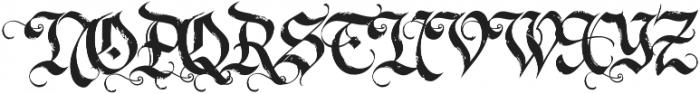 LHF Dark Horse 2 Regular otf (400) Font UPPERCASE