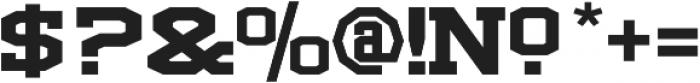 LHF Full Block Regular otf (400) Font OTHER CHARS