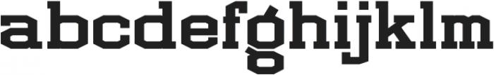 LHF Full Block Regular otf (400) Font LOWERCASE